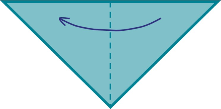 2) Fold your triangle in half again.