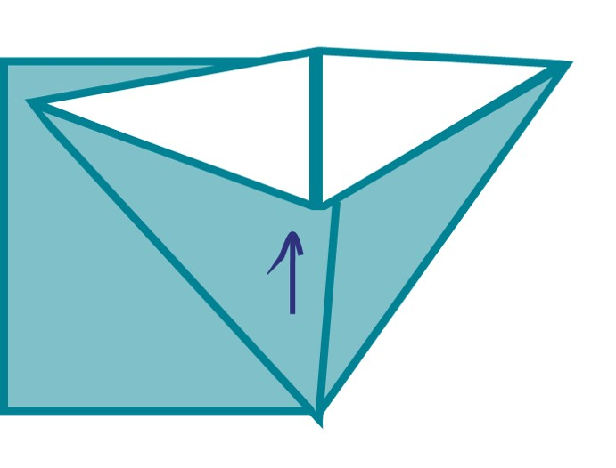 4) This should allow you to make a triangle – like so.